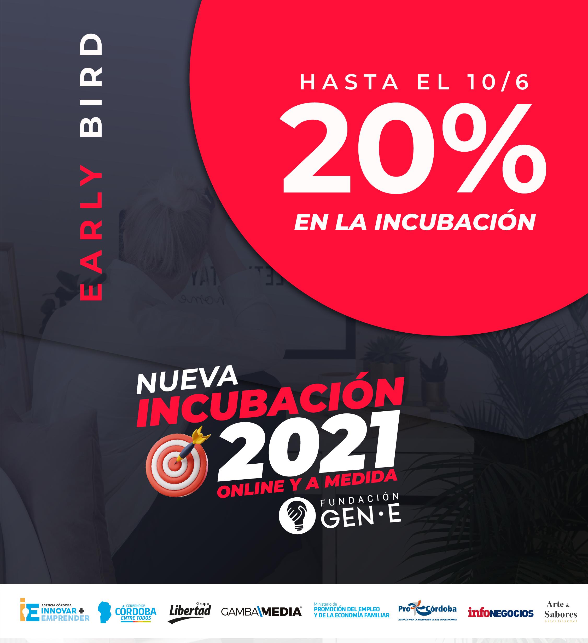 nueva incubación 2021 fundación gen e