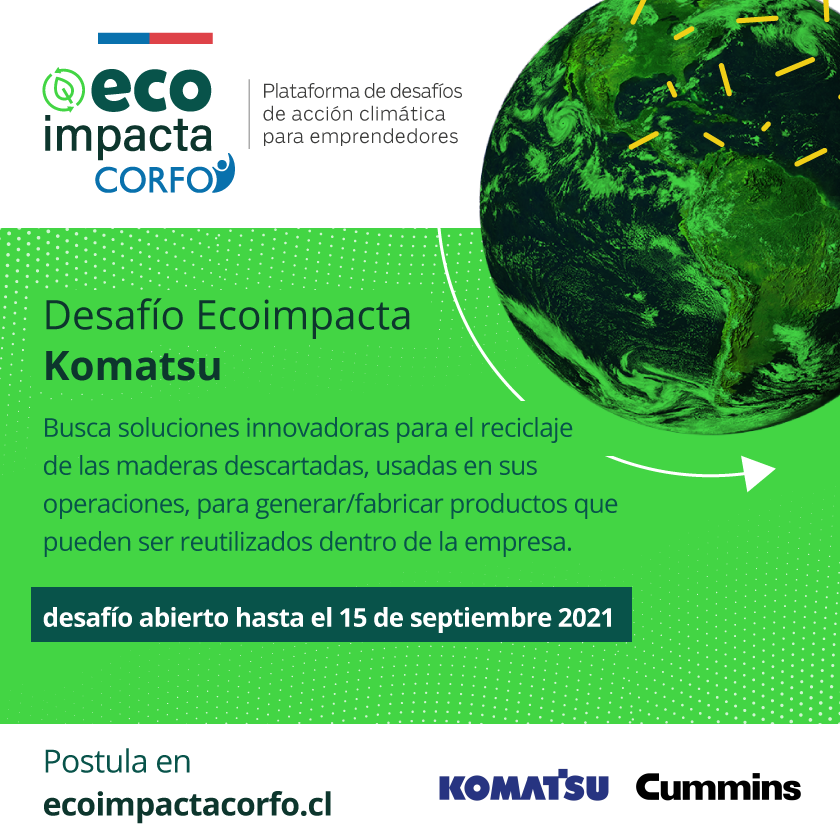 Desafío Eco impacta Komatsu corfo